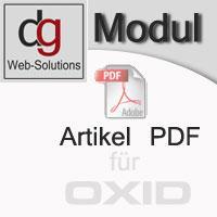 OXID Shop Modul Artikel-Pdf