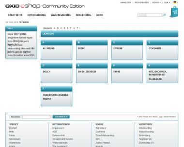 Modul Lexikon für OXID eShop