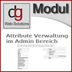Attribute Verwaltung für den Admin Bereich