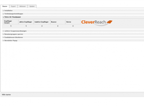OXID Modul CleverReach, Anbindung an E-Mail Marketing Software
