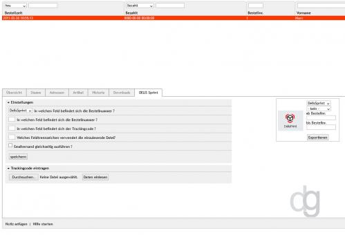 OXID Shop Modul DelisPrint Bestellexport