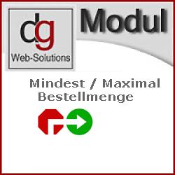 Modul Mindestbestellmenge/Maximal Bestellanzahl