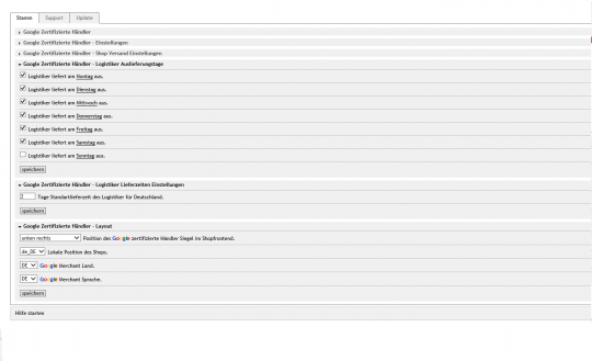 OXID eShop Google Kundenrezensionen / zertifizierte Händler, OXID Shop Anbindung