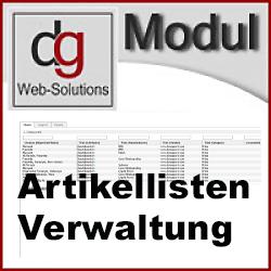 OXID Modul Backend Artikellisten erstellen, verwalten, exportieren und Löschen CE
