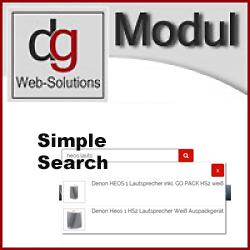 OXID Shop Popup Suche